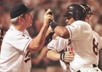 Albert Belle with Ray Miller